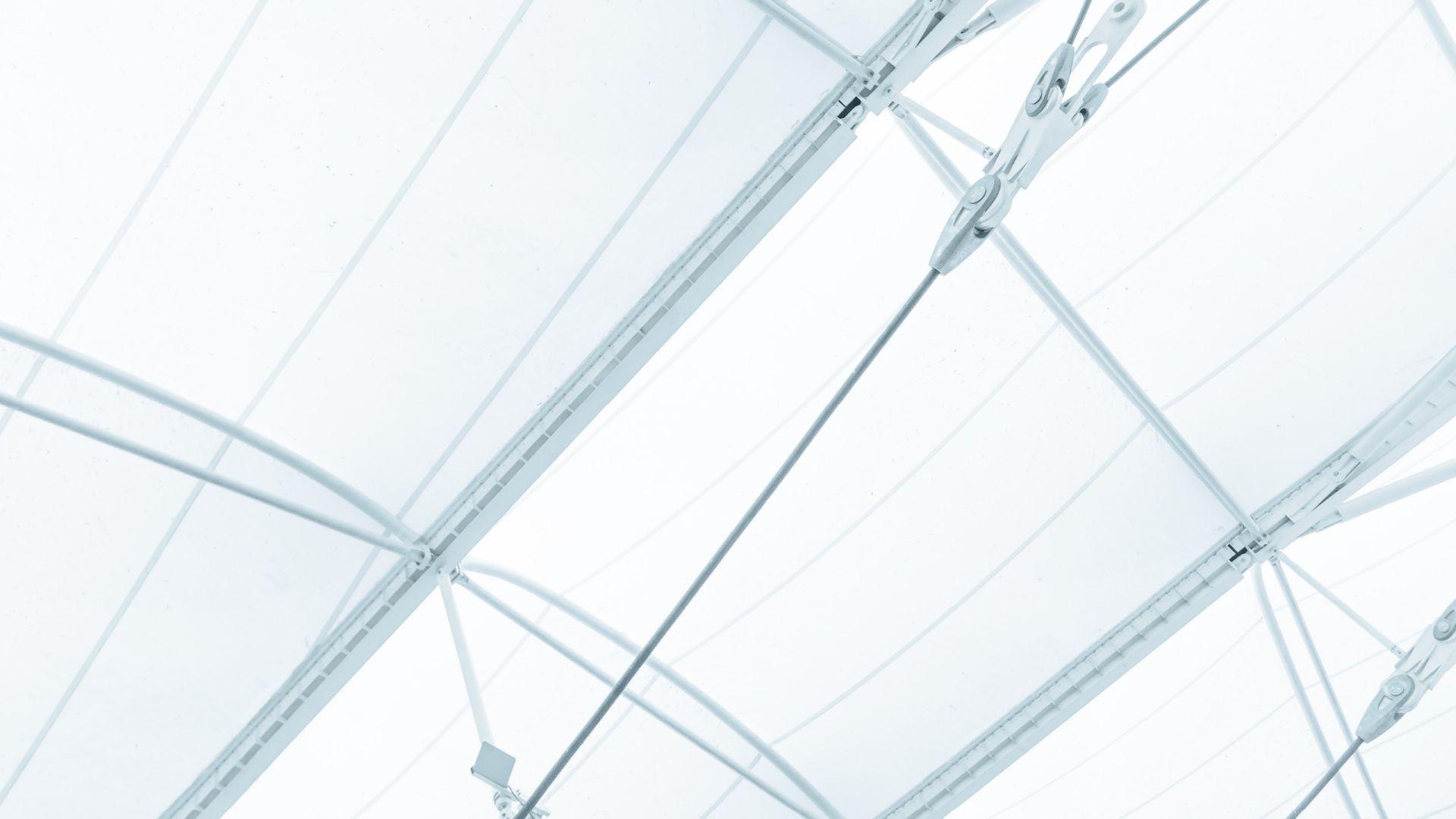 Lagerzelt mit Stahl-Aluminiumgerüst