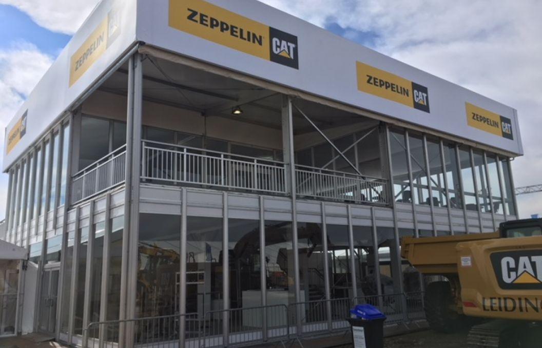 Doppelstockzelt Palas mit Terrasse für die Firma Zeppelin