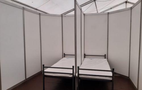Zelt für betriebliche Impfstraße