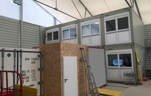 Container für Mitarbeiter / als Lager