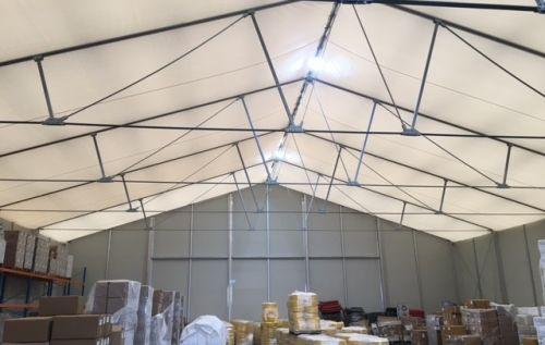 Pop-up-Halle als zusätzliche Lagerfläche