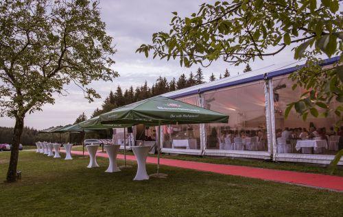 Außenbereich Zelt
