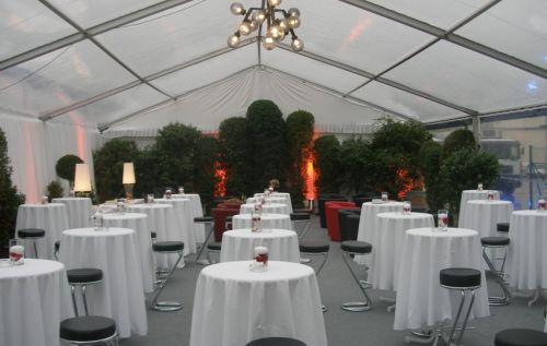 10m Veranstaltungszelt mit transparenten Dachplanen