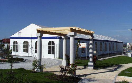10m Zelt mit Fensterseitenplanen