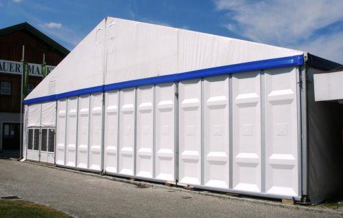 20m Zelt mit festen Seitenwänden