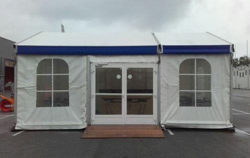 5m Ausstellungszelt mit Zelttür und Fenstern