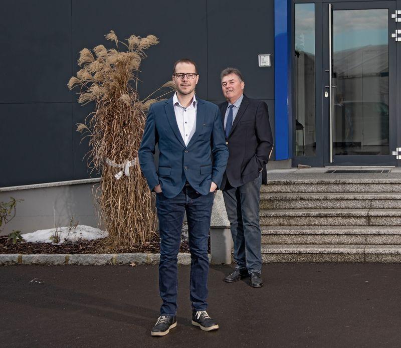 Markus Ebersteiner (Geschäftsführung) und Heinrich Ebersteiner (Firmengründer)